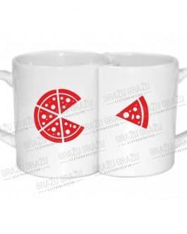 "Meilės puodeliai poroms ""Pizza"""