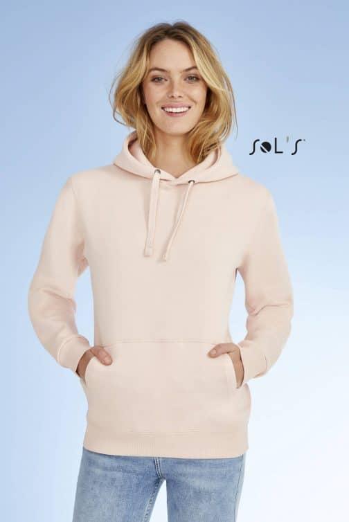 Moteriškas džemperis su gobtuvu