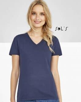 """Moteriški marškinėliai """"V"""" (10vnt.)"""