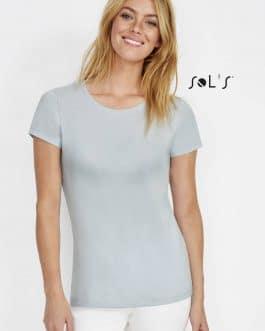 Moteriški marškinėliai apvalia apykakle (10vnt.)