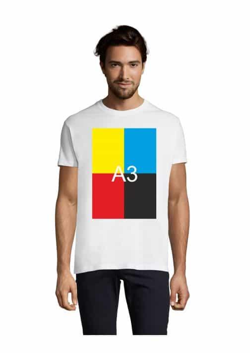 Vyriški balti xxl marškinėliai