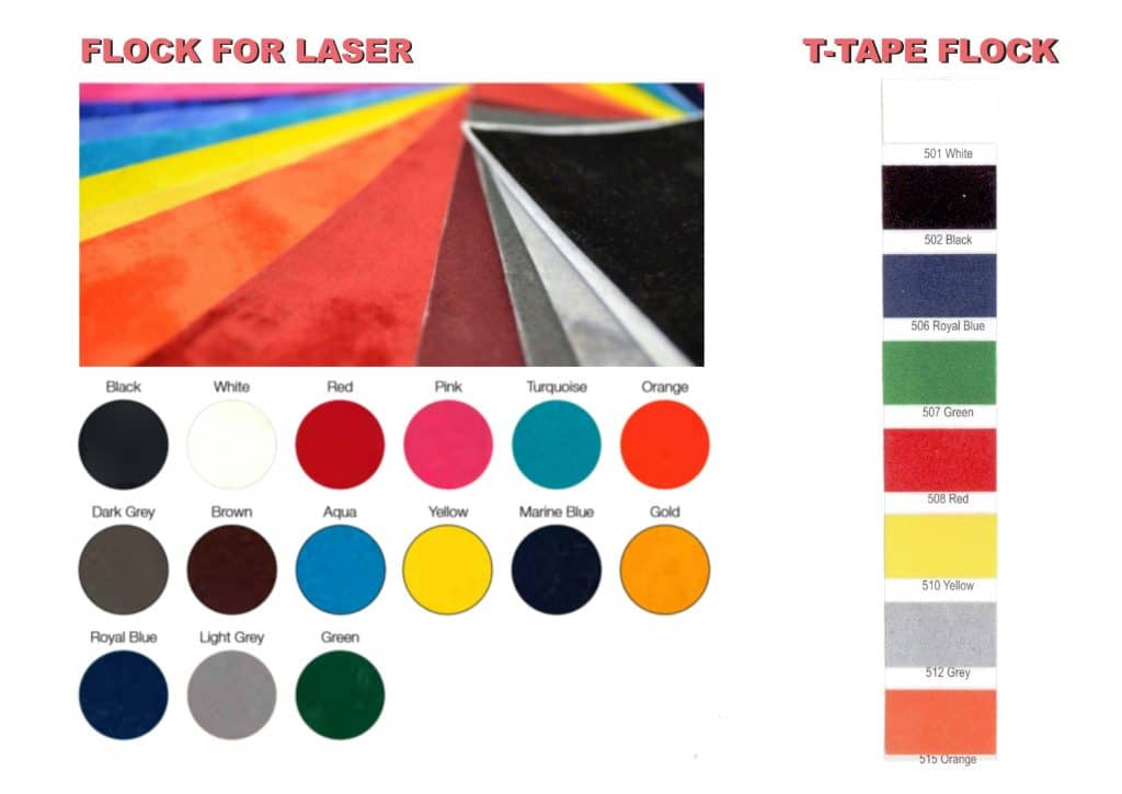 Floko spalvų paletė