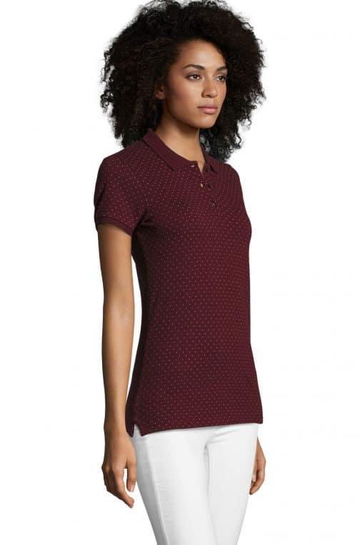 Moteriški polo marškinėliai BrandW šonas