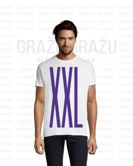 Vyriški balti XXL dydžio marškinėliai