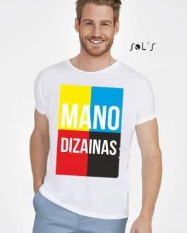 Sublimaciniai vyriški marškinėliai su A3 spauda