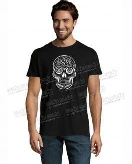 """Vyriški marškinėliai Helovinui """"Kaukolė"""""""