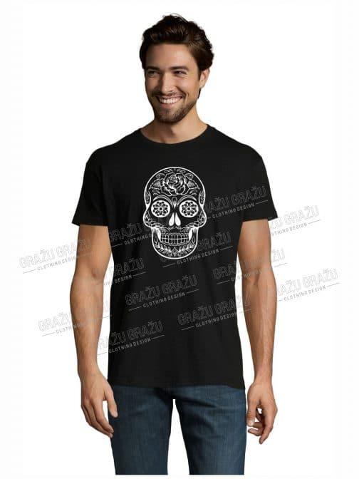 Vyriški marškinėliai helovinui kaukolė