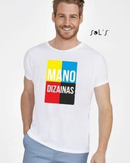 Sublimaciniai vyriški marškinėliai su A4 spauda