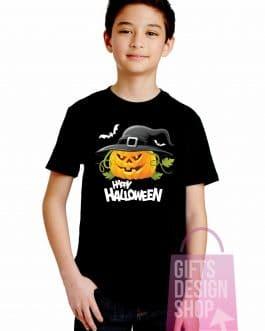 Vaikiški marškinėliai helovinui juodi