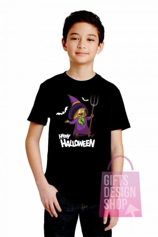 Helovino marškinėliai vaikams juodi