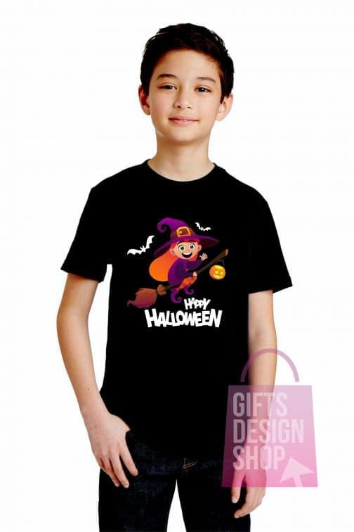 Helovino marškinėliai vaikiški juodi