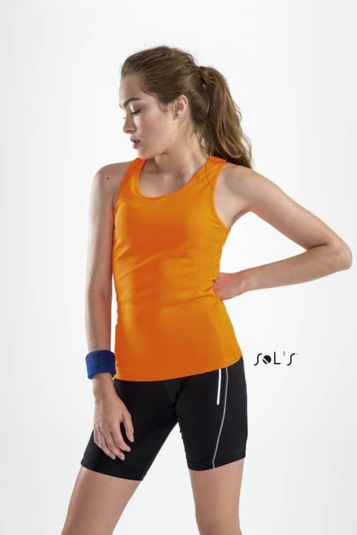Moteriški sportiniai berankoviai marškinėliai
