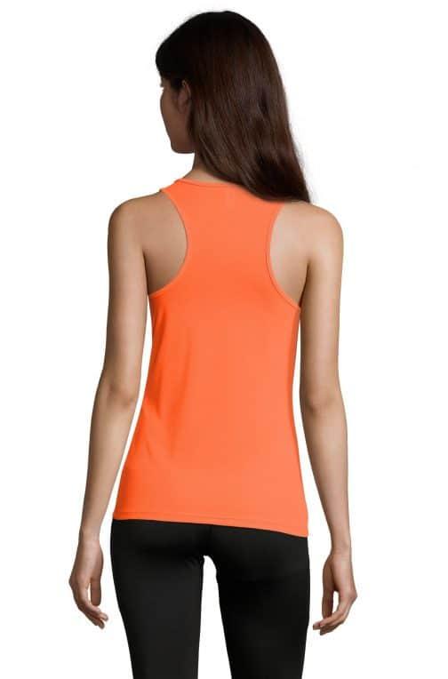 Moteriški sportiniai berankoviai marškinėliai nugara