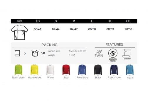 Moteriški sportiniai marškinėliai ilgomis rankovėmis spalvos