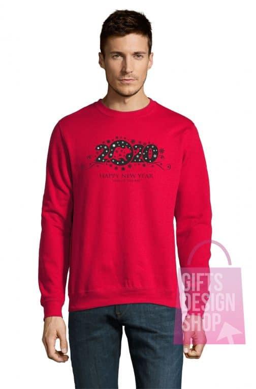 Kalėdinis džemperis su gobtuvu