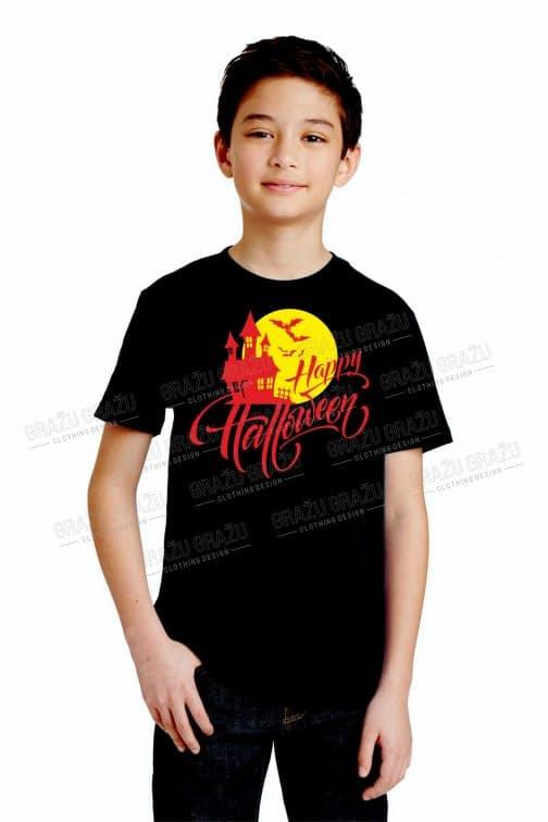 Vaikiški Halloween marškinėliai juodi