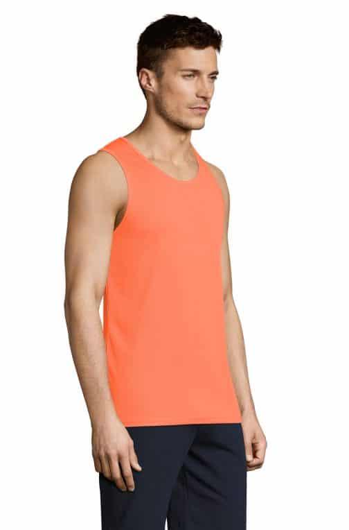 Vyriški sportiniai berankoviai marškinėliai šonas