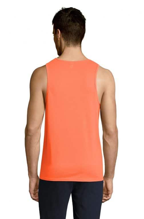Vyriški sportiniai berankoviai marškinėliai nugara