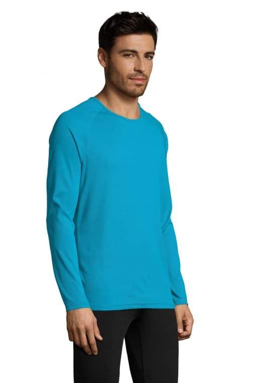 Vyriški sportiniai marškinėliai ilgomis rankovėmis šonas