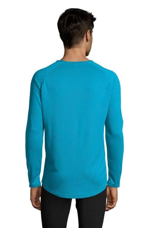 Vyriški sportiniai marškinėliai ilgomis rankovėmis nugara