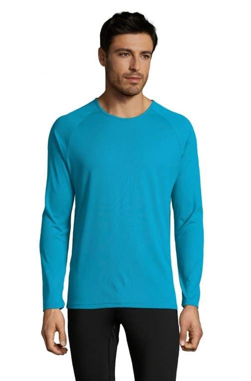 Vyriški sportiniai marškinėliai ilgomis rankovėmis priekis