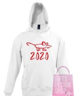 """Kalėdiniai vaikiški džemperiai su gobtuvu """"Žiurkės 2020"""""""