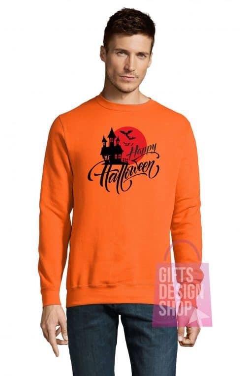 Universalus džemperis Helovinui oranžinis