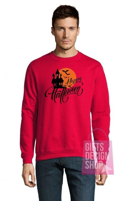 Universalus džemperis Helovinui raudonas