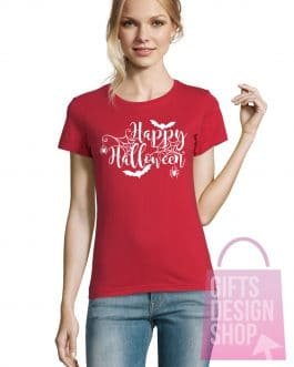 """Moteriški marškinėliai helovinui """"Happy Halloween"""""""