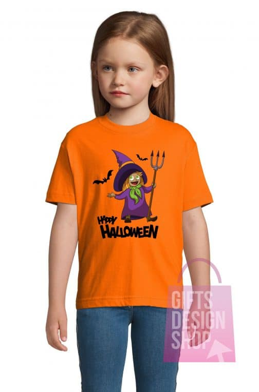 Helovino marškinėliai vaikams oranžiniai