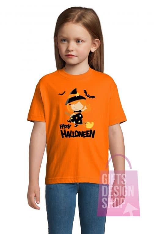 Marškinėliai helovinui oranžiniai