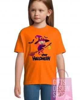 """Helovino marškinėliai """"Ragana ant šluotos"""""""
