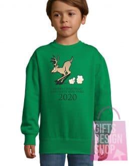 """Kalėdiniai vaikiški džemperiai """"Elniukas"""""""