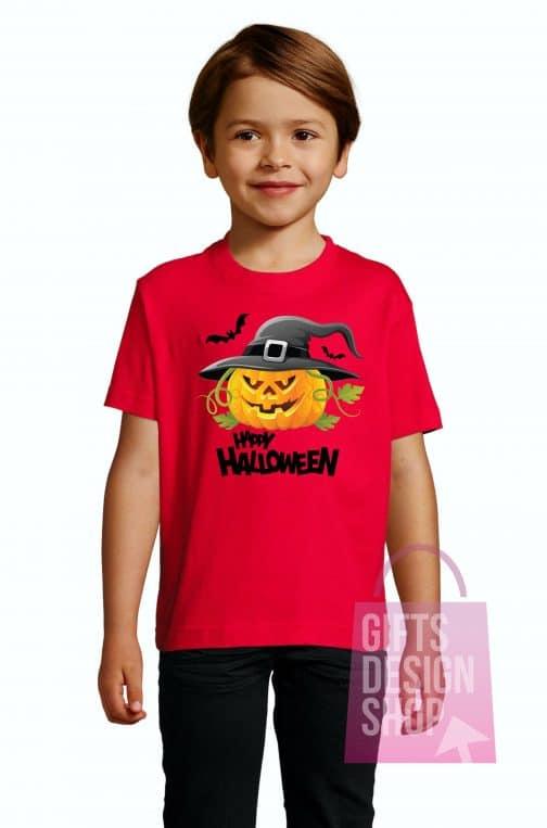 Vaikiški marškinėliai helovinui raudoni