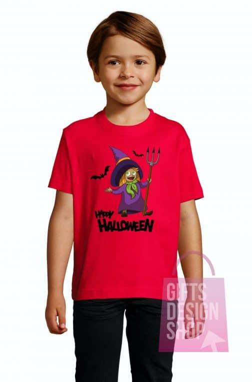 Helovino marškinėliai vaikams raudoni