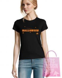 """Moteriški marškinėliai helovinui """"Halloween"""""""