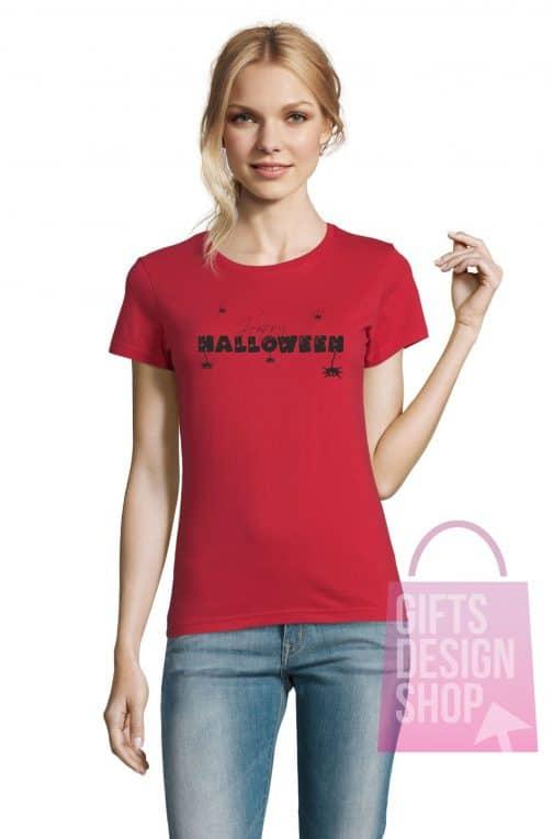 Helovino marškinėliai moterims raudoni