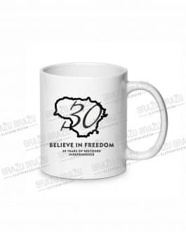 "Sublimacinis puodelis ""Believe in Freedom"""