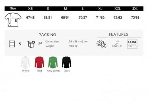 Unisex džemperiai dydžiai